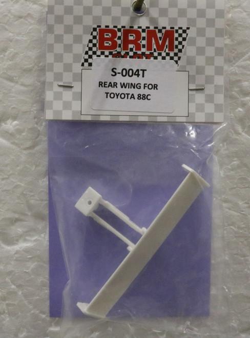 S-004T BRM Toyota 88C Unpainted Rear Wing 1:24 Slot Car Part