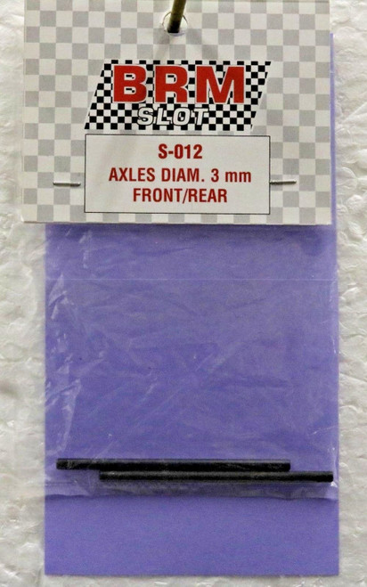S-012 BRM Axles 60x3mm Oil Treated (2x) 1:24 Slot Car Part