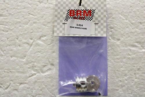 S-014 BRM Rear Aluminium Wheels 1:24 Slot Car Part