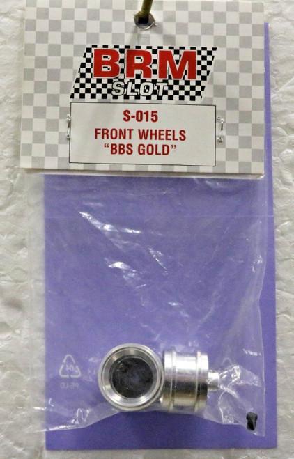 S-015 BRM Group C Front Aluminium Wheels BBS Gold 1:24 Slot Car Part