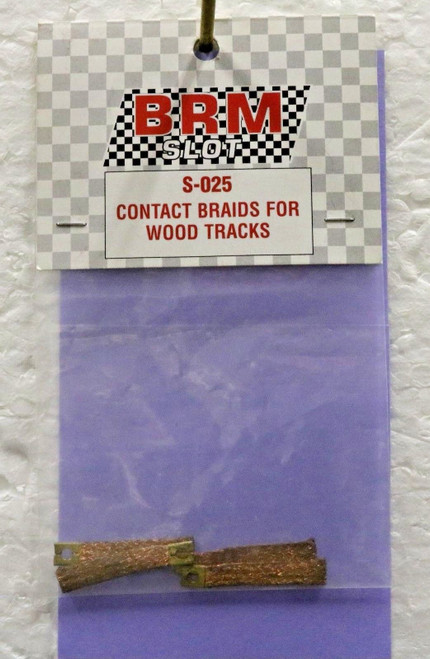 S-025 BRM Contact Braids for Wood Tracks (Thicker - 4x) 1:24 Slot Car Part