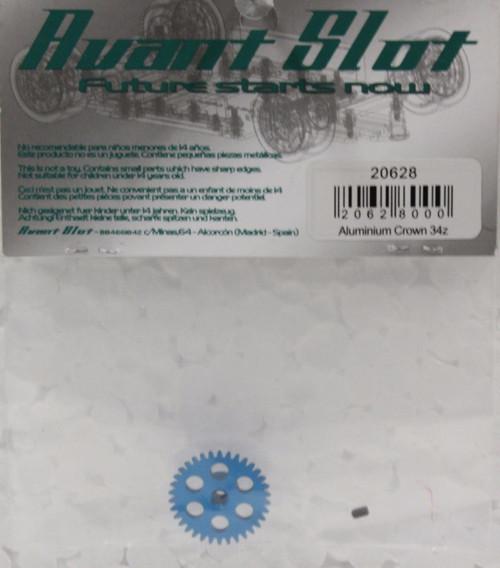 20628 Avant Slot 34-Tooth Anglewinder Aluminium Crown 1:32 Slot Car Part