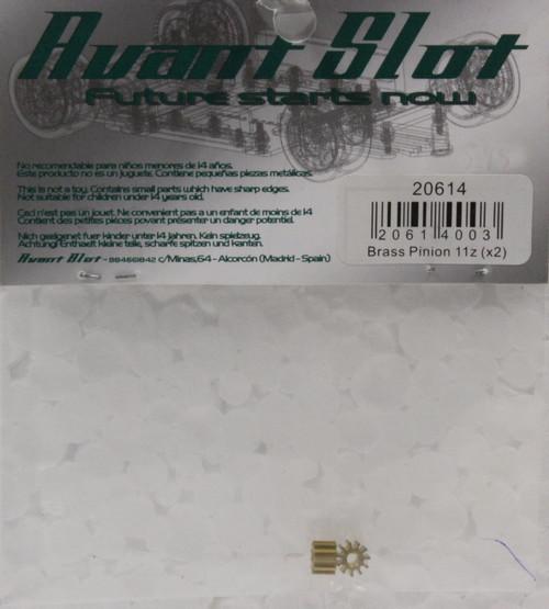 20614 Avant Slot 11-Tooth Brass Pinion 5.5mm (2 Pieces) 1:32 Slot Car Part