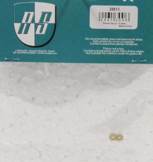 20613 Avant Slot 10-Tooth Brass Pinion 5.5mm (2 Pieces) 1:32 Slot Car Part