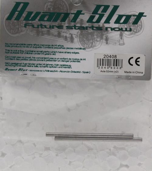 20408 Avant Slot Steel Axle 50x2.38mm (2 Pieces) 1:32 Slot Car Part