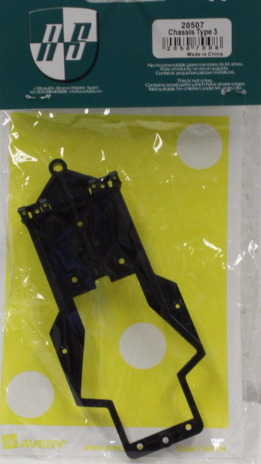 20507 Avant Slot Chassis Type 3 for the Pescarolo Black 1:32 Slot Car Part