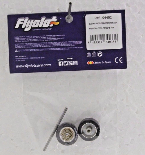 04402 Fly Porsche 934 Front Axle with Wheels 1:32 Slot Car Part