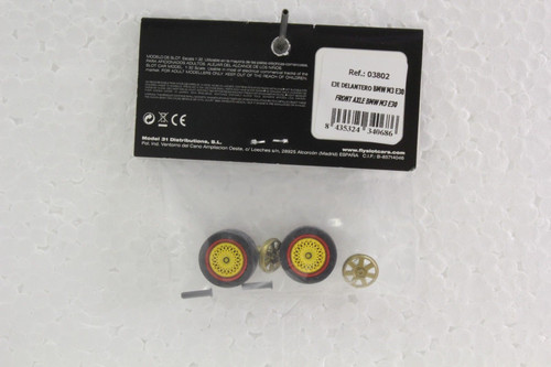 03802 Fly BMW M3 E30 Stub Axles with Front Wheels 1:32 Slot Car Part