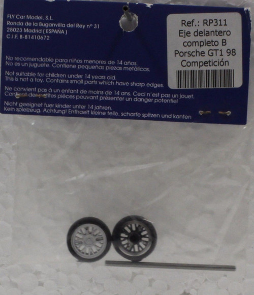 RP311 Fly Porsche GT1-98 Competition Axle with Wheels 1:32 Slot Car Part