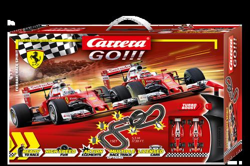 62505 Carrera GO!!! Ferrari Race Spirit 1:43 Slot Car Set