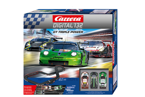 30007 Carrera Digital 132 GT Triple Power 1:32 Slot Car Set