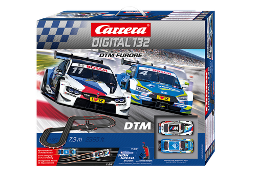 30008 Carrera Digital 132 DTM Furore Wireless+ 1:32 Slot Car Set
