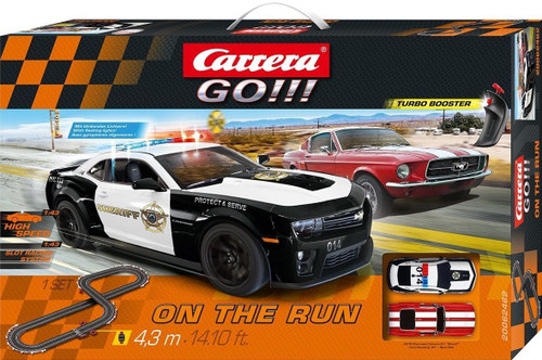 62462 Carrera GO!!! On the Run 1:43 Slot Car Set