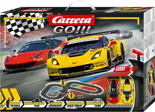 62490 Carrera GO!!! GT Showdown 1:43 Slot Car Set