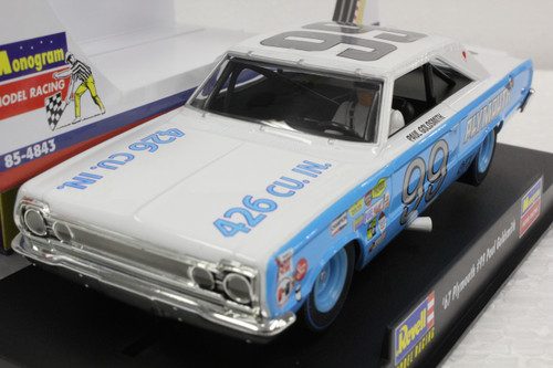 4843 Revell/Monogram 1967 Plymouth Daytona Paul Goldsmith 1:32 Slot Car