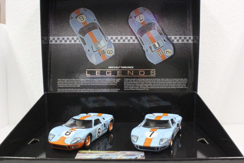 C4041A Scalextric Ford GT40 Gulf Le Mans 1969 Twin Pack 1:32 Slot Car