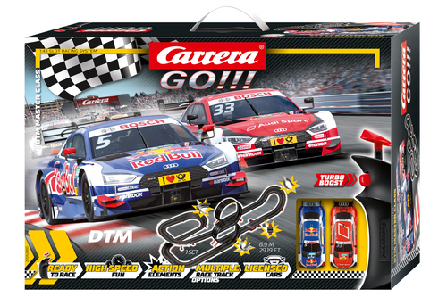 62480 Carrera GO!!! DTM Master Class 1:43 Slot Car Racing Set
