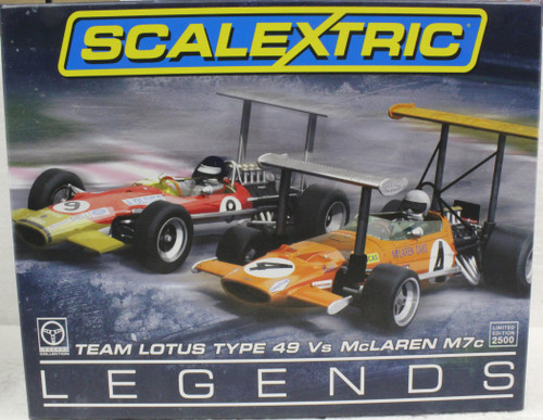 C3544A Scalextric McLaren M7C/Lotus 49 Serial Numbered 2-Car-Set 1:32 Slot Car
