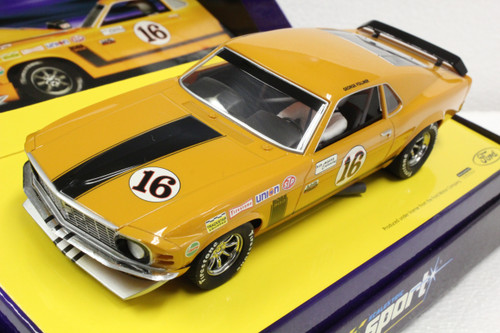 C2437A Scalextric Sport Ford Boss Mustang, #16 1:32 Slot Car