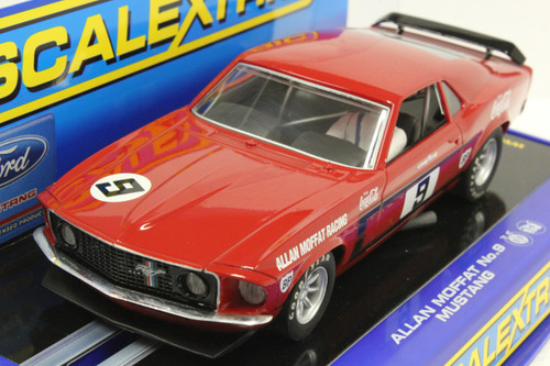 C2775 Scalextric 1969 Ford Mustang Allan Moffat Coca Cola, #9 1:32 Slot Car