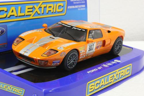 C2882 Scalextric Ford GT Orange Stillen Project Car, #907 1:32 Slot Car