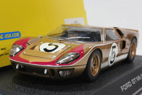 C2465 Scalextric Ford GT MKII Le Mans 1966 Gold, #5 1:32 Slot Car
