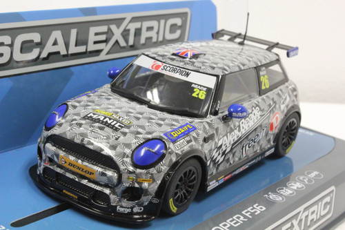 C3873 Scalextric BMW Mini Cooper F56 Mini Challenge 2016, #26 1:32 Slot Car