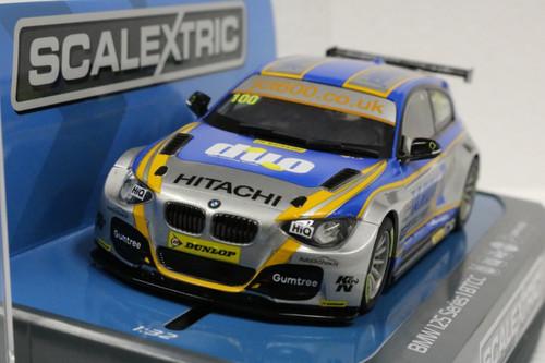 C3862 Scalextric BTCC BMW 125 Series 1 w/Lights, #100 1:32 Slot Car *DPR*