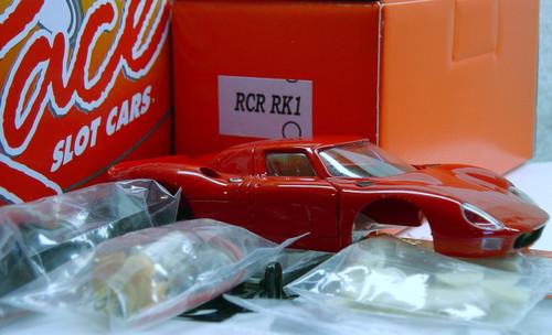 RCRRK1 Racer Ferrari 250LM Painted Slot Car Kit Red 1:32 Slot Car