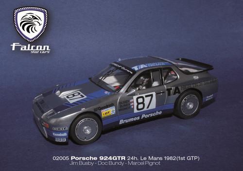 02005 Falcon Slot Cars Porsche 924GTR 24h Le Mans 1982 1st GTP, #87 1:32 Slot Car