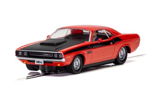 C4065 Scalextric Dodge Challenger Red & Black 1:32 Slot Car