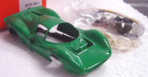 RCRRK3 Racer Ferrari 330 P4 Painted Slot Car Kit Green 1:32 Slot Car