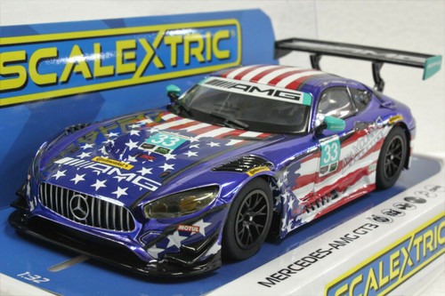 C4023 Scalextric Mercedes AMG GT3 Stars and Stripes, #33 1/32 Slot Car *DPR*