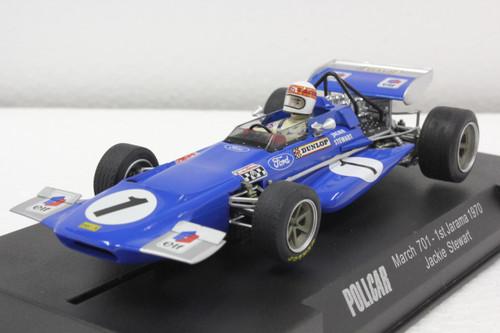 CAR04B Policar March 701 1st Jarama GP 1970 Jackie Stewart, #1 1:32 Slot Car
