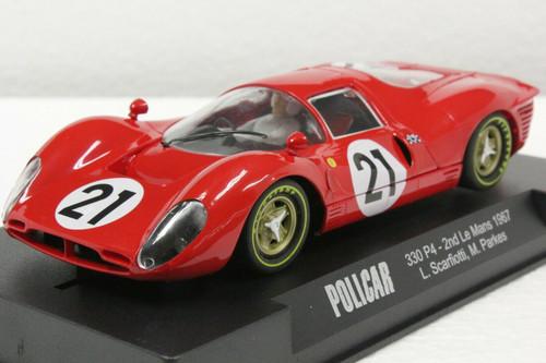 CAR06A Policar Ferrari 330 P4 2nd Le Mans 1967 Ludovico Scarfiotti, Mike Parkes, #21 1:32 Slot Car