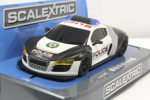 SEC3932 Carrera Digital 132 Audi R8 Police Car 1:32 Slot Car