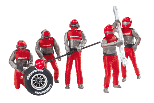 21131 Carrera Mechanics Figure Set (5 Red/Silver) 1:24 & 1:32 Slot Car Accessory