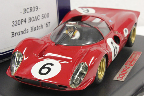 RCR09 Racer Ferrari 330 P4 BOAC 500 Brands Hatch 1967 C. Amon/J. Stewart 1:32 Slot Car