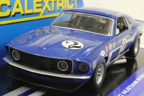 SEC3539 Carrera Digital 132 Mustang Trans Am Boss 302 Gurney, #2 1:32 Slot Car