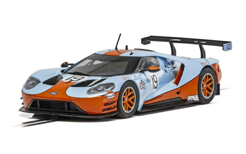 C4034 Scalextric Ford GT GTE Gulf Edition, #19 1:32 Slot Car *DPR*