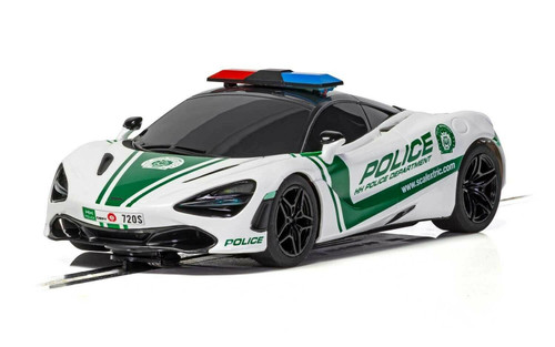 C4056 Scalextric McLaren 720S Police Car Working Siren & Lights *DPR* 1:32 Slot Car