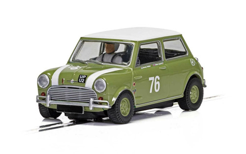 C4059 Scalextric Austin Mini Cooper S Goodwood 2018, #76 1:32 Slot Car