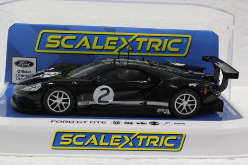 C4063 Scalextric Ford GT GTE Black Heritage Edition, #2 1:32 Slot Car *DPR*