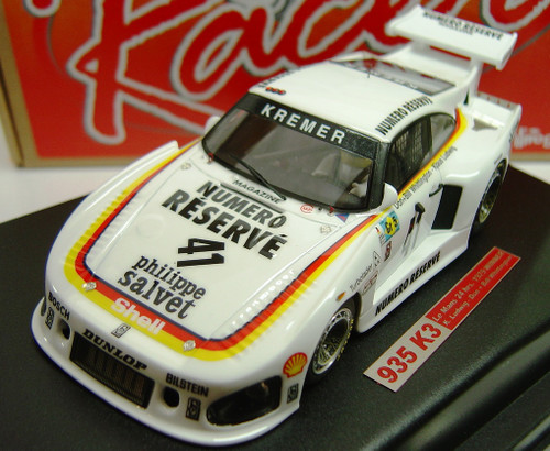 RCR22 Racer Porsche 935 K3 Le Mans 24H 1979 Winner K. Ludwig/Don & Bill Whittington 1:32 Slot Car