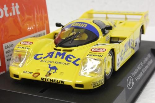 SICA34B Slot.it Porsche 962C 85 24h Le Mans 1988 Camel Racing Service, #4 1:32 Slot Car