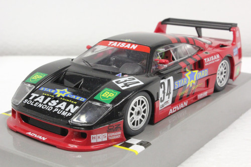 CAR03B Policar Ferrari F40- 1995 All Japan Grand Touring Car Championship (JGTC) #34 1:32 Slot Car