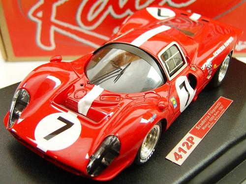 RCR23 Racer Ferrari 412P Scuderia Filipinetti Monza 1000 Kms 1967 Muller/N. Vaccarella 1:32 Slot Car