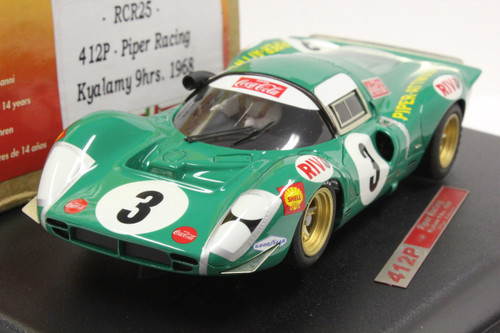 RCR25 Racer Ferrari 412P Piper Racing Kyalami 9H 1968 D. Piper/R. Attwood 1:32 Slot Car