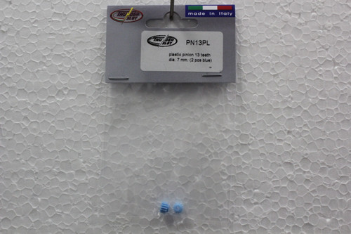 PN13PL Thunderslot 13 tooth Plastic Pinion Gear 7mm Blue 1:32 Slot Car Part