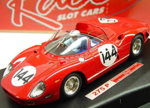 RCR27 Racer Ferrari 275P Nurburgring 1000 Kms 1964 Winner L. Scarfiotti/N. Vaccarella 1:32 Slot Car
